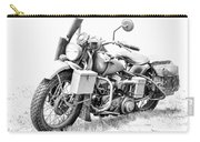 Harley Davidson Military Motorcycle Bw Carry-all Pouch