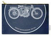 Harley Davidson Model 10b 1914, For Some There's Therapy, For The Rest Of Us There's Motorcycles Carry-all Pouch