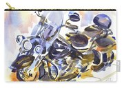 Motorcycle In Watercolor Carry-all Pouch