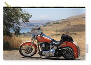 Harley With Columbia River And Mt Hood Carry-all Pouch