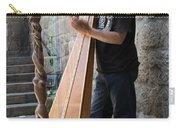 Harpist Street Musician, Barcelona, Spain Carry-all Pouch