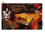 Harry Chapin Taxi Song Poster With Lyrics Carry-all Pouch