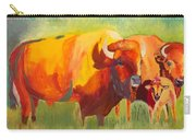 Hartsel Bison Family In Springtime Carry-all Pouch