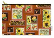 Harvest Market Pumpkins Sunflowers N Red Wagon Carry-all Pouch