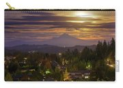 Harvest Moon 2016 Moonrise Over Happy Valley Oregon Carry-all Pouch