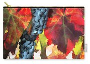 Harvest Time Grapes And Leaves Carry-all Pouch