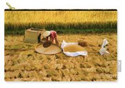 Harvesting Rice Fields Vietnamese Woman  Carry-all Pouch