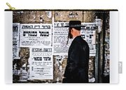 Hasadic Jew Reading Pashkevilin  Carry-all Pouch