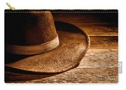 Hat - Sepia Carry-all Pouch