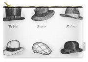Hats Of A Gentleman Carry-all Pouch by Adam Zebediah Joseph