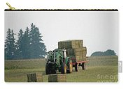 Hauling Hay At Dusk Carry-all Pouch
