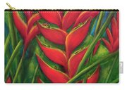 Hawaii Heliconia Flowers #445 Carry-all Pouch