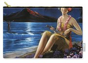 Hawaii, Hula Girl Plays Ukulele At Tropical Beach Night Carry-all Pouch