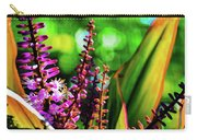 Hawaii Ti Leaf Plant And Flowers Carry-all Pouch