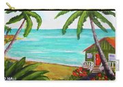 Hawaii Tropical Beach Art Prints Painting #418 Carry-all Pouch