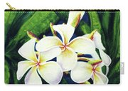 Hawaii Tropical Plumeria Flowers #160 Carry-all Pouch