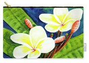 Hawaii Tropical Plumeria Flowers #302 Carry-all Pouch