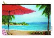 Hawaiian Beach Wave Art Print Painting #441 Carry-all Pouch