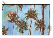 Hawaiian Cottage With Pink And Red Tropical Flowers Carry-all Pouch