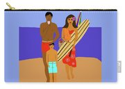 Hawaiian Family Beach Scene Carry-all Pouch