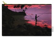 Hawaiian Fishing On Halama Beach At Sunset Carry-all Pouch