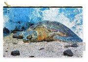 Hawaiian Green Turtle Honu Carry-all Pouch