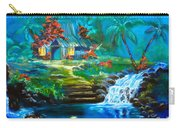 Hawaiian Hut And Waterfalls Carry-all Pouch