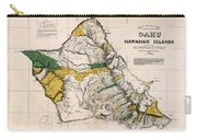 Hawaiian  Islands Map 1881 Carry-all Pouch