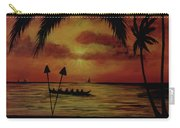 Hawaiian Sunset Paddlers #283 Carry-all Pouch