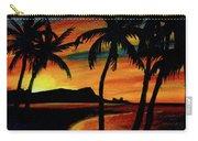 Hawaiian Waikiki Sunrise Over Diamond Head  #266 Carry-all Pouch