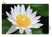 Hawaiian White Water Lily Carry-all Pouch