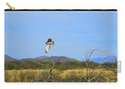 Hawk In Flight Over The Desert Carry-all Pouch