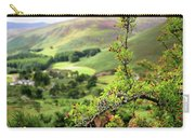 Hawthorn Branch With View To Wicklow Hills. Ireland Carry-all Pouch