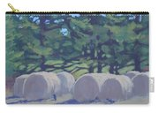 Hay Bales And Crows Carry-all Pouch