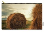 Hay Bales On Farm Field Carry-all Pouch