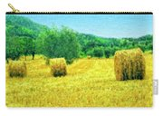 Hay Harvest In Tuscany Carry-all Pouch