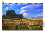 Hay Rolls On The Farm By Christopher Shellhammer Carry-all Pouch
