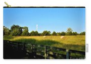 Hayfield With Distant Cell Tower Carry-all Pouch