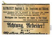 Haymarket Handbill, 1886 Carry-all Pouch