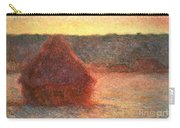 Haystacks At Sunset Carry-all Pouch