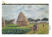 Haystacks Carry-all Pouch by Camille Pissarro
