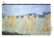 Haystacks The Young Ladies Of Giverny Sun Effect Carry-all Pouch