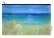 Hazy Beach Mini Oil On Masonite Carry-all Pouch