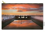 Hdr Sunset Over Harbor And Graffiti Carry-all Pouch