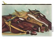 Head And Head At The Winning Post Carry-all Pouch