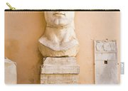 Head From The Statue Of Constantine, Rome, Italy Carry-all Pouch
