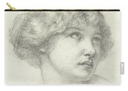 Head Of A Girl  Carry-all Pouch