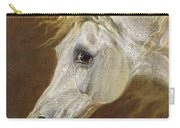 Head Of A Grey Arabian Horse  Carry-all Pouch