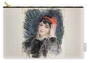 Head Of A Young Woman - 1878 -1880 Pierre-auguste Renoir Carry-all Pouch