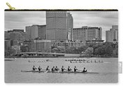 Head Of The Charles. Charles Rowers Black And White Carry-all Pouch